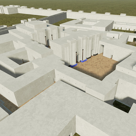 Virtual reconstruction; DS, Nabu-Temple complex, facing west