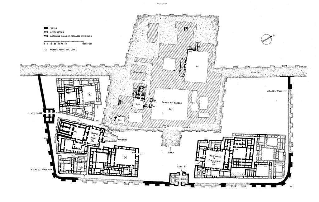 Plan der Zitadelle (Loud - Altman 1938: Taf. 70).