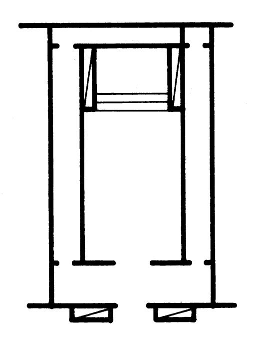 Das Schema des assyrischen Langraumtempels (Heinrich 1982: Abb. 41).