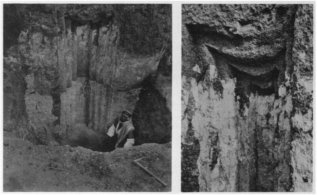Eine der vielen großen Nischen der Palastterrasse, mit erhaltenem oberen Abschluss (Loud - Altman 1938: Taf. 13 c, d).