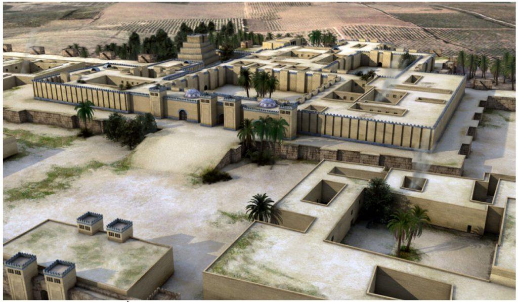 Rekonstruktion von Dur-Sharrukin, Citadelle (Cultrano u. a. 2007: Abb. 8).