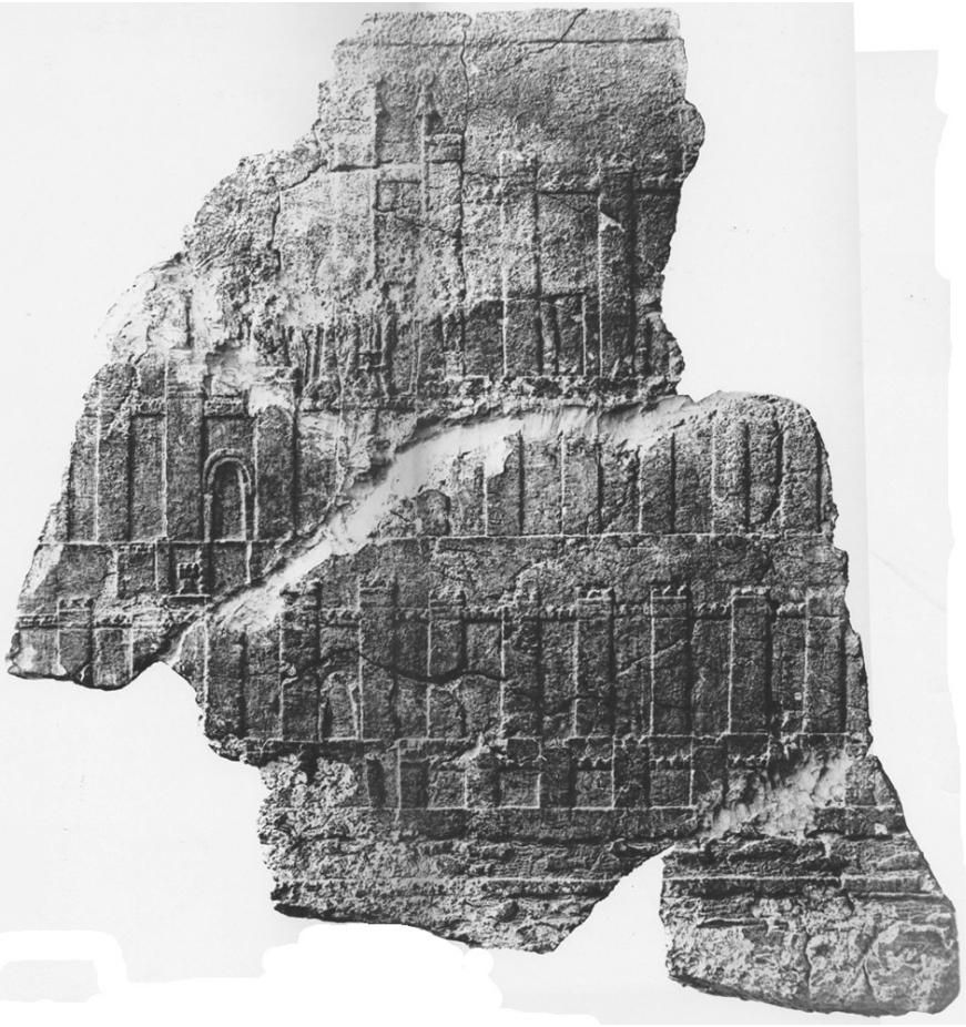 Orthostate 10 aus dem Palast des Assurbanipal in Niniveh (Barnett 1976: Taf. 26).