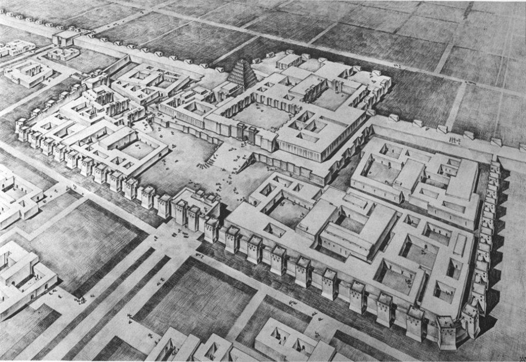Loud's Rekonstruktion der Stadtanlage (Loud - Altman 1938: Taf. 1).