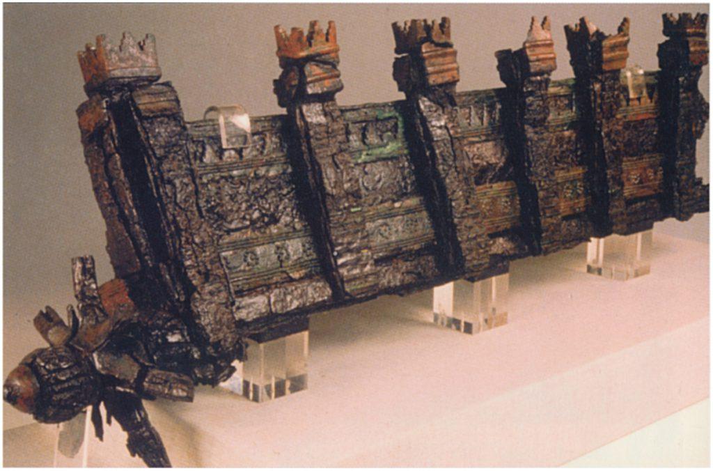 Als Miniatur einer Stadtanlage gestaltetes, fahrbares Kohlebecken aus Nimrud (Oates - Oates 2001: Taf. 12 c).