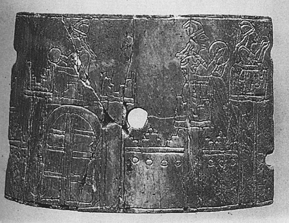 Elfenbein-Pyxis aus Nimrud (Oates - Oates 2001: Abb. 87).