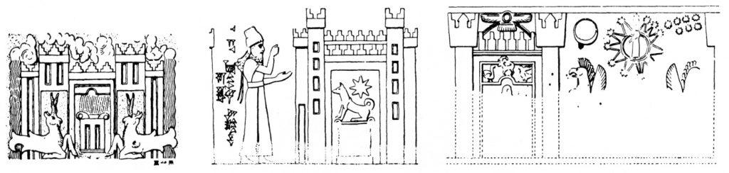 Siegelabrollungen aus Assur, mittelassyrisch (Heinrich 1982: Abb. 318).