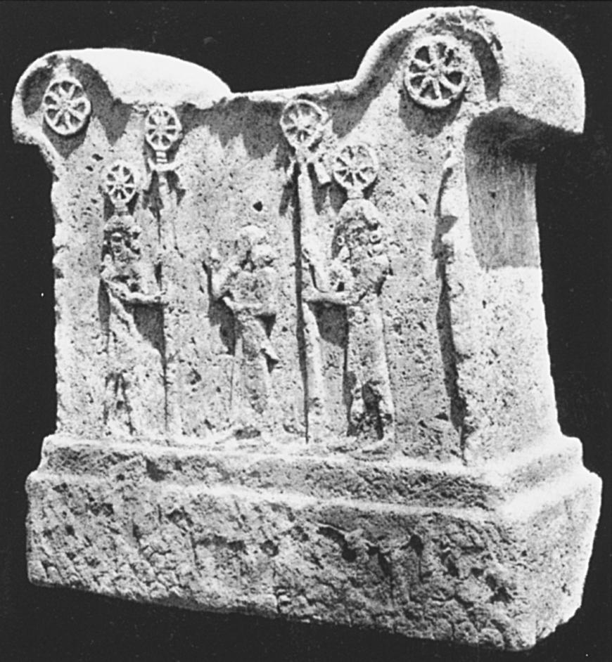 Symbolsockel aus Assur, mittelassyrisch (Herles 2006: Abb. 401).