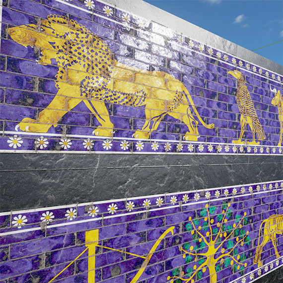 Glazed bricks of Dur Sharrukin, constructed with Quixel, visualized in Unreal Engine 4