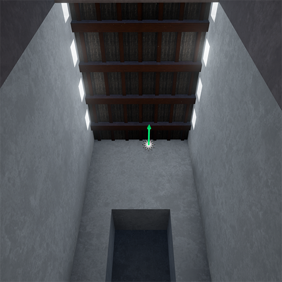Virtual reconstruction; DS, Nabu-Temple, Room 21, facing south-west