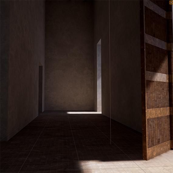 Virtual reconstruction; DS, Nabu-Temple, Room 19, facing north-west